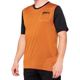 100% Ridecamp Koszulka rowerowa z zamkiem błyskawicznym Mężczyźni, pomarańczowy/czarny
